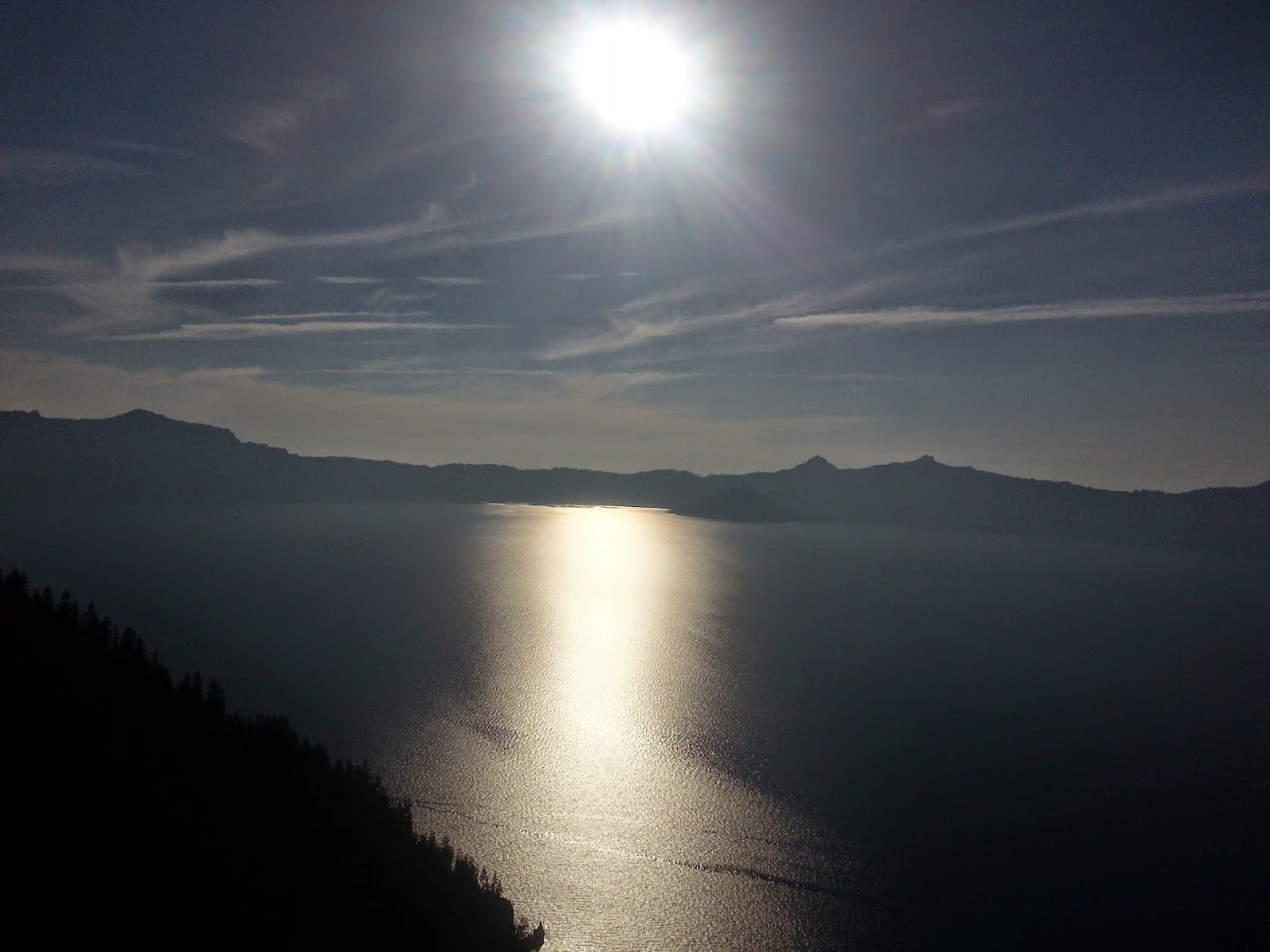late day sun at Crater Lake