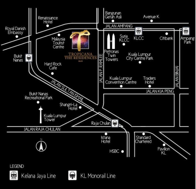 the residences by tropicana 's location maps