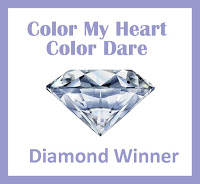 7-11-18 Color My Heart Color Dare #296 - Toffee, Juniper, Pomegranate
