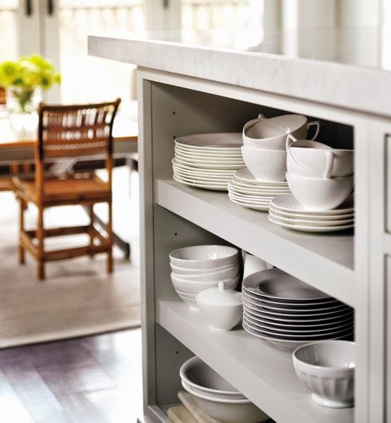 sleek kitchen organization