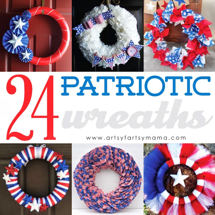 24 DIY Patriotic Wreaths #4thofJuly #wreath