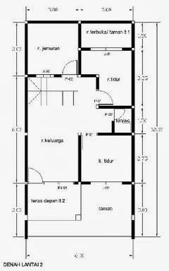 gambar desain rumah 2 lantai luas bangunan 100 m2 gratis