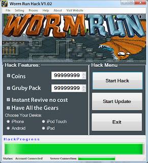 Worm Run Cheat Hack v1.2 (Updated 2014)