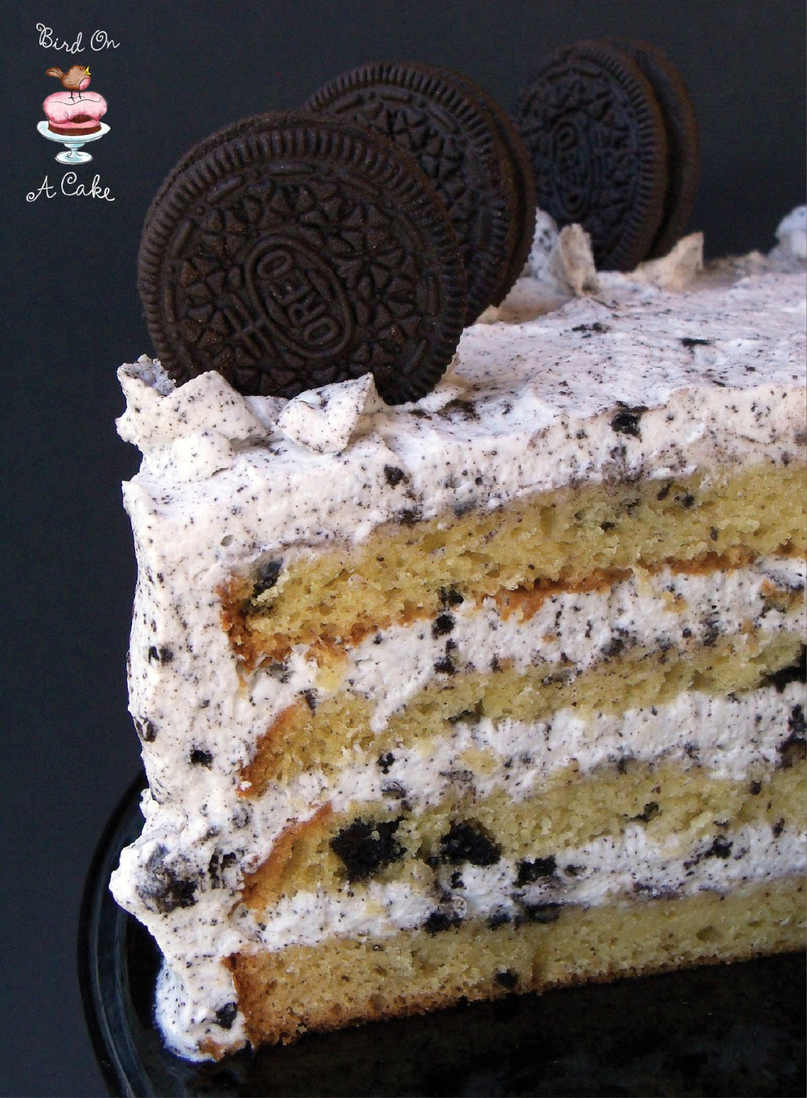 Vanilla oreo cookie cake recipe