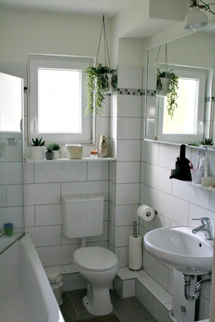 Bad Makeover, kleines Bad verschönern, Dekoideen Badezimmer, Plfanzen, Glade by Brise, Raumduft