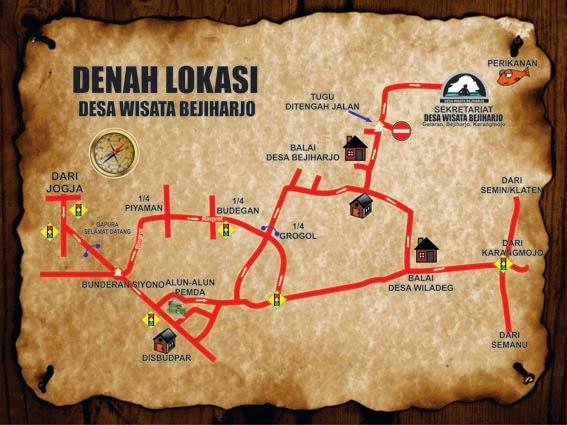 Peta Denah Gua Pindul
