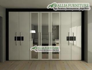 Lemari pakaian minimalis Modern kabinet plafon