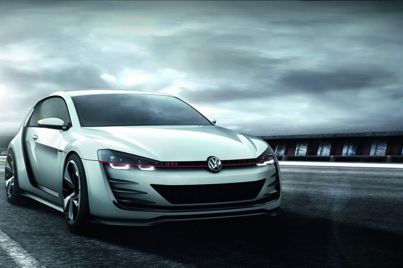 car on Volkswagen Golf Design Vision GTI 2013
