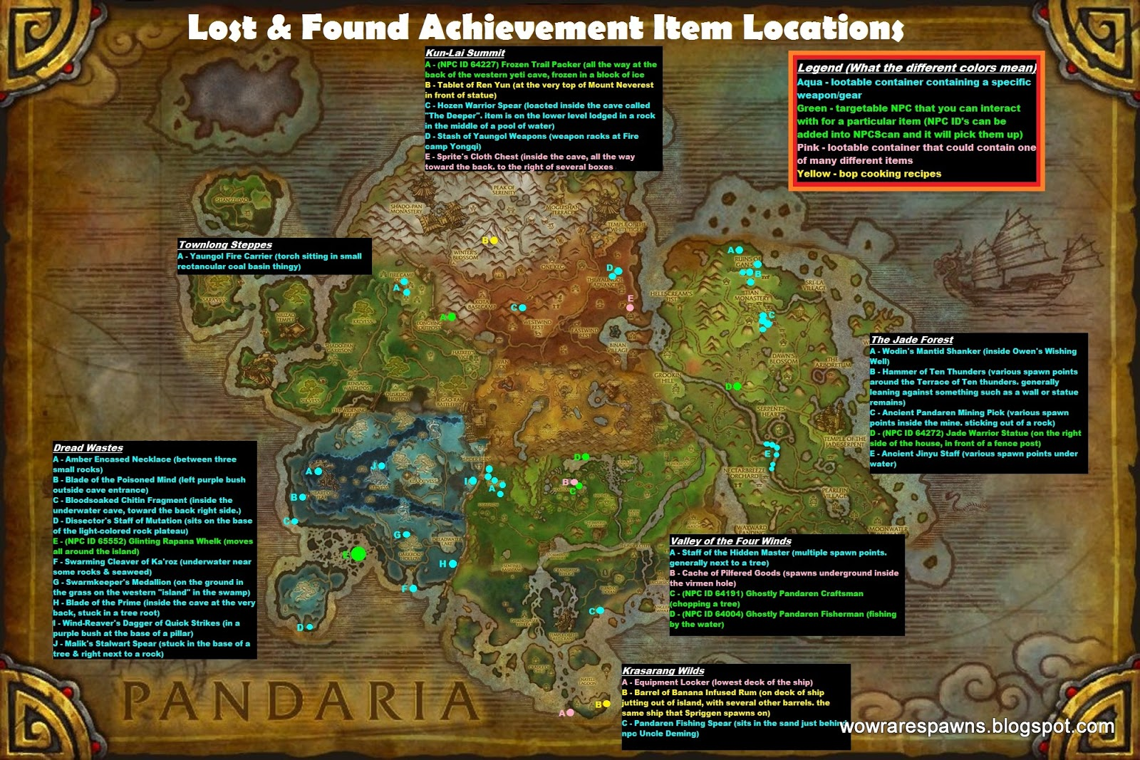 WoW Rare Spawns Lost and Found Achievement Where to Find Lost