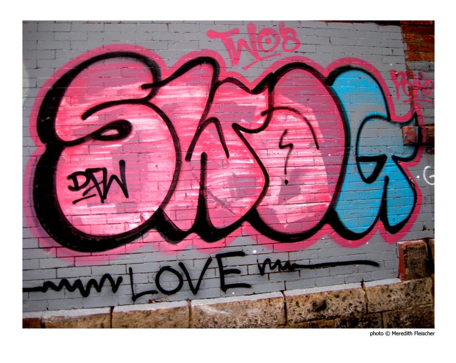 Photographs graffiti street art music all mixed up