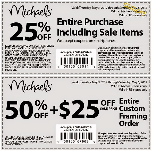Michaels discount coupons
