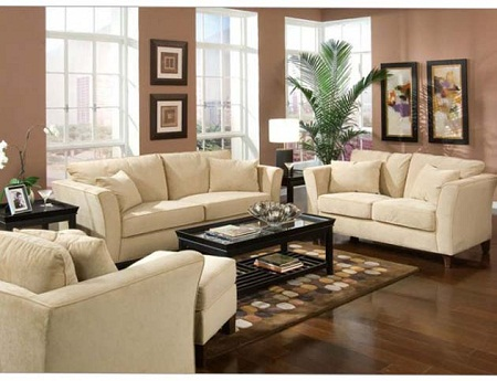 Living room decorating ideas for Brown paint ideas for living room