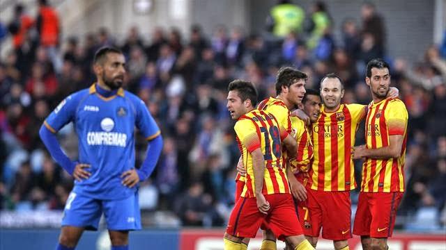 برشلونة يسحق خيتافي بخماسية بطلها بدرو ويحافظ على الصدارة