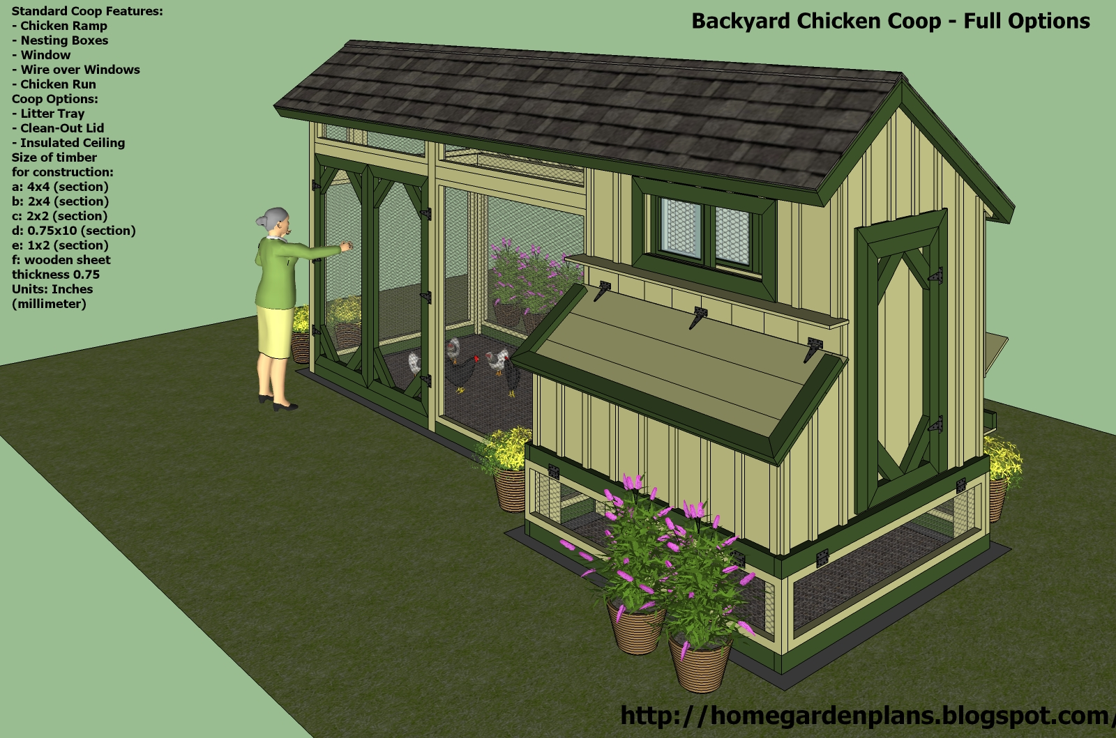 Download plans for a chicken run free venpa for Chicken coop blueprints designs plans