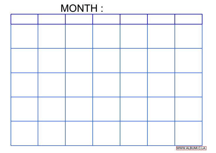 Blank Calendar  Calendar En  WwwAlbumiCLa Blank