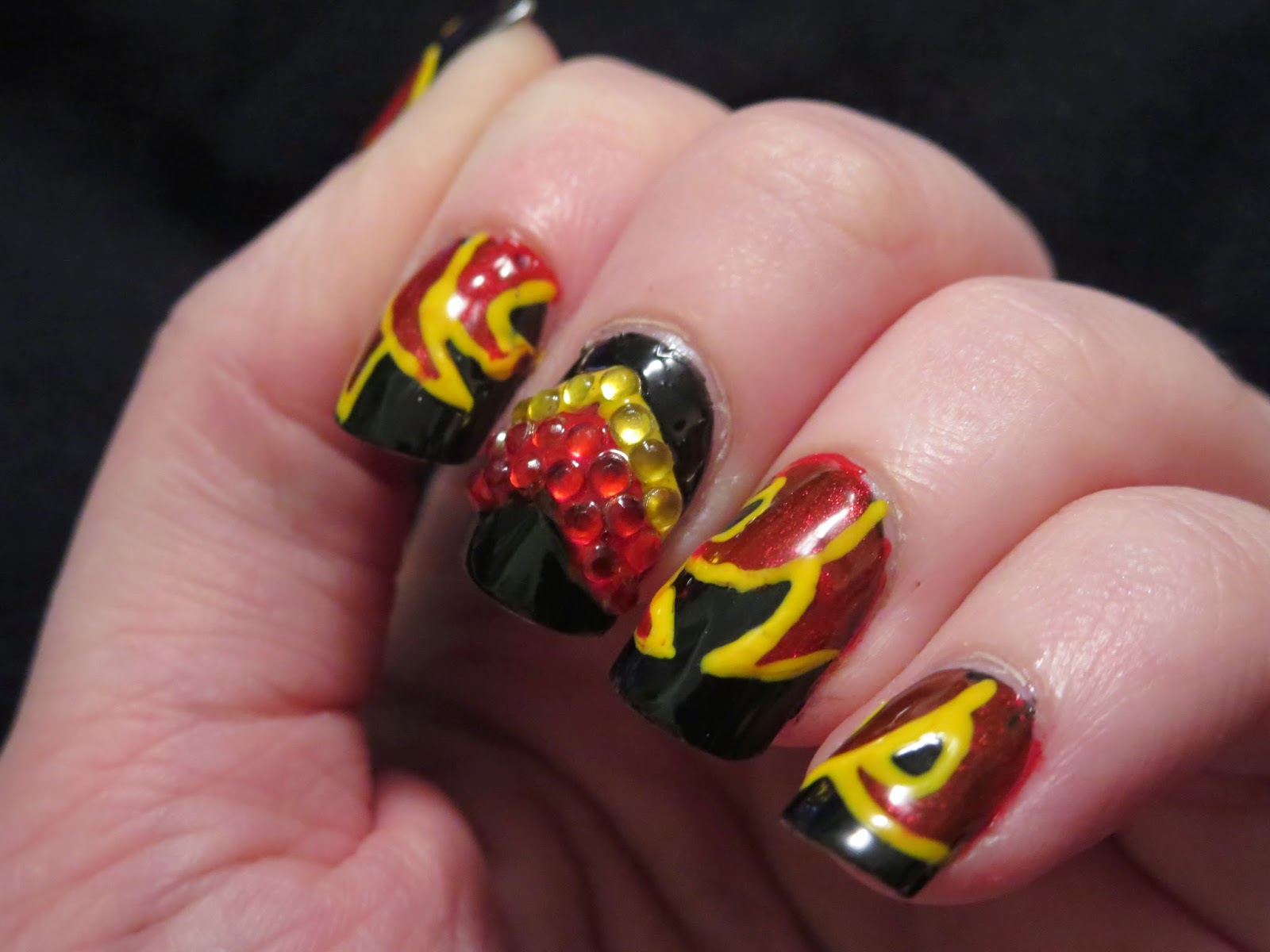 Bizarre Obsessions: Irish Dance inspired nails