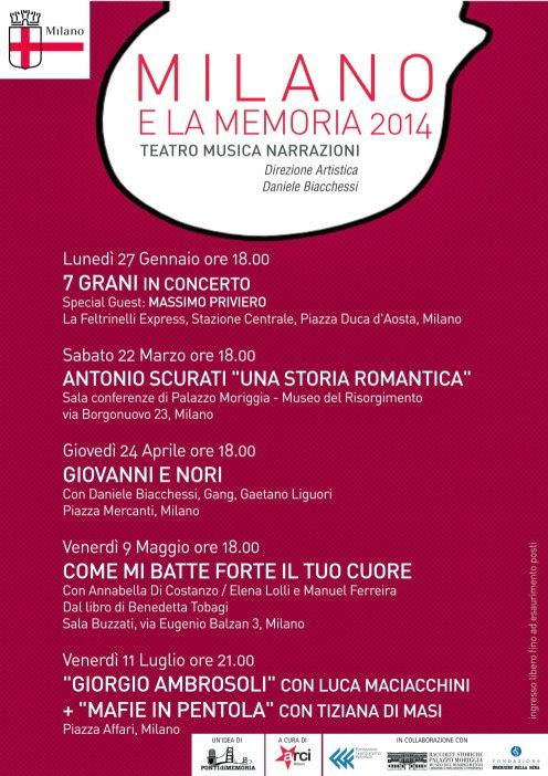 Milano e la Memoria 2014, un progetto di riqualificazione dell'identità e della memoria di Milano.