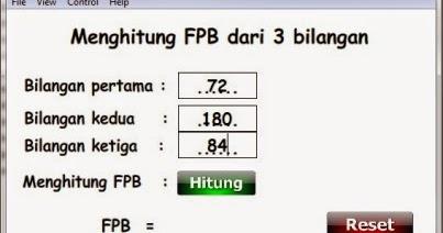 Simulasi Menghitung Fpb Dari Tiga Bilangan Flash Matematika