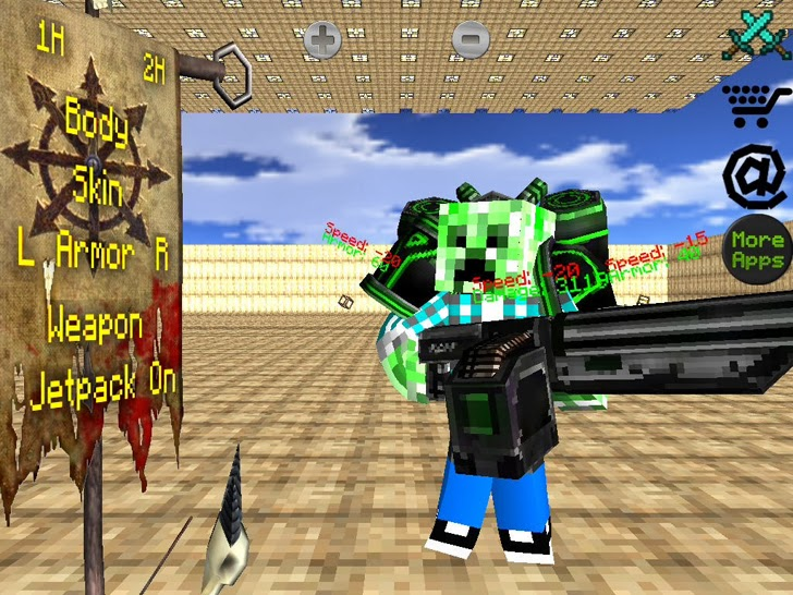 Battle Craft 3D - Free Sword & Gun Block World Fighting Arena For MineCraft App iTunes App By Ocean Red, LLC - FreeApps.ws