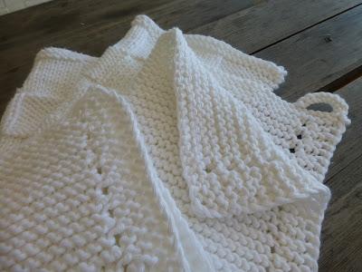 Strikket håndkle i bomull