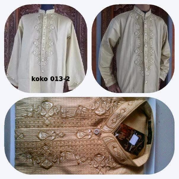 Baju Koko Putih  Bordir Terbaru