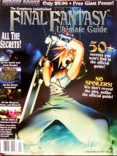 Book Cover Fantasy Vii : Vgjunk unofficial strategy guide cover art extravaganza