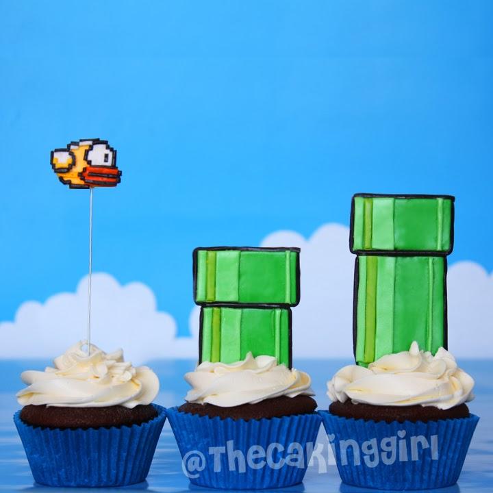 flappy bird cupcake