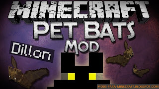 Pet Bat Mod para Minecraft 1.8/1.8.8
