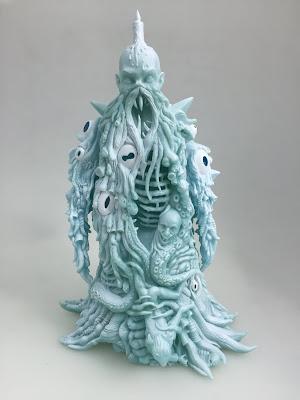 """Ice Blue"" Lolgolth Gnazgoroth Glow in the Dark Vinyl Figure by Skinner"