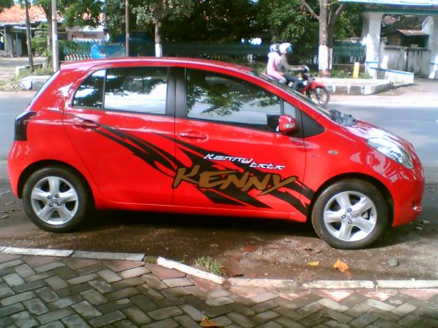 Kenny Sticker For Honda Jazz Red Colour The Best Inspirate Modification Cars