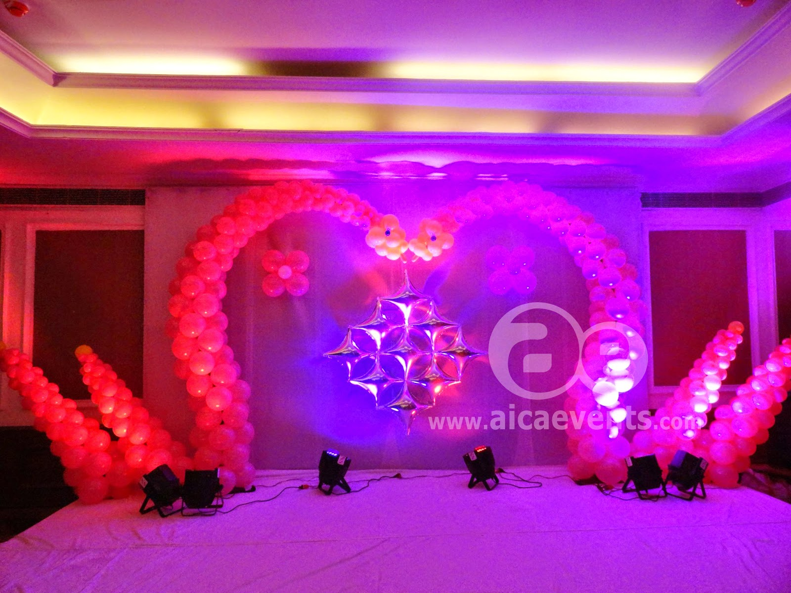 Aicaevents balloon decorations with different stage back for 1st birthday balloon decoration ideas