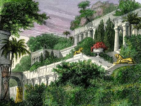 Old Maps Expeditions And Explorations The Biggest Wonder About The Hanging Gardens Of Babylon