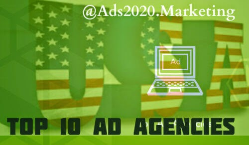 What are top 10 most popular advertising agencies in usa for Ad agency in usa
