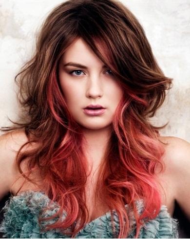 Gorgeous Dip Dye Hair Style 2014