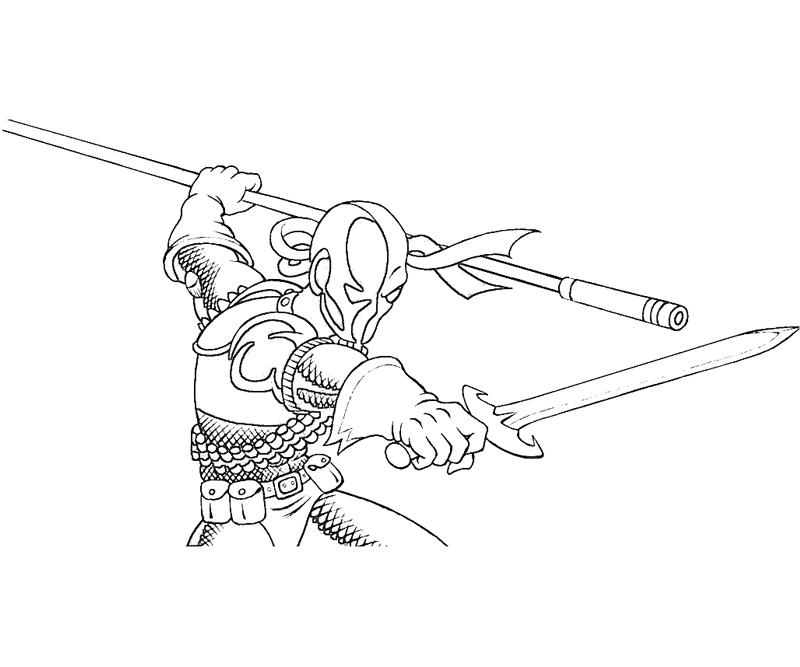 coloring pages of deathstroke injustice - photo#29