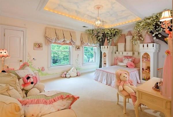 Dormitorios para ni as tema princesas dormitorios - Habitaciones infantiles romanticas ...