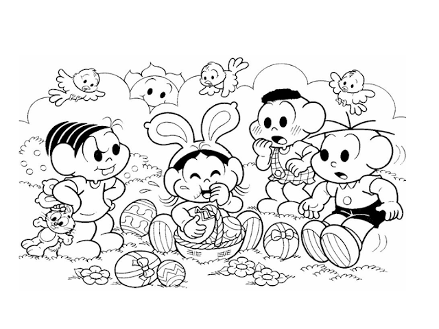 Desenho para colorir para Páscoa