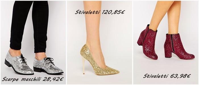 scarpe glitterate