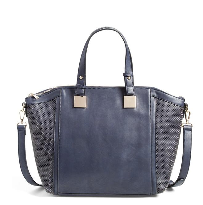 Fall Fashion - navy vegan leather satchel ($52)