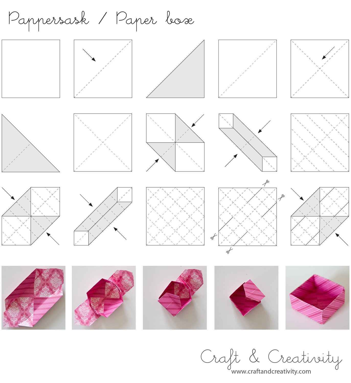 Упаковка своими руками из бумаги схемы