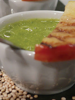 Quinoa Vichyssoise with grilled apple and mint