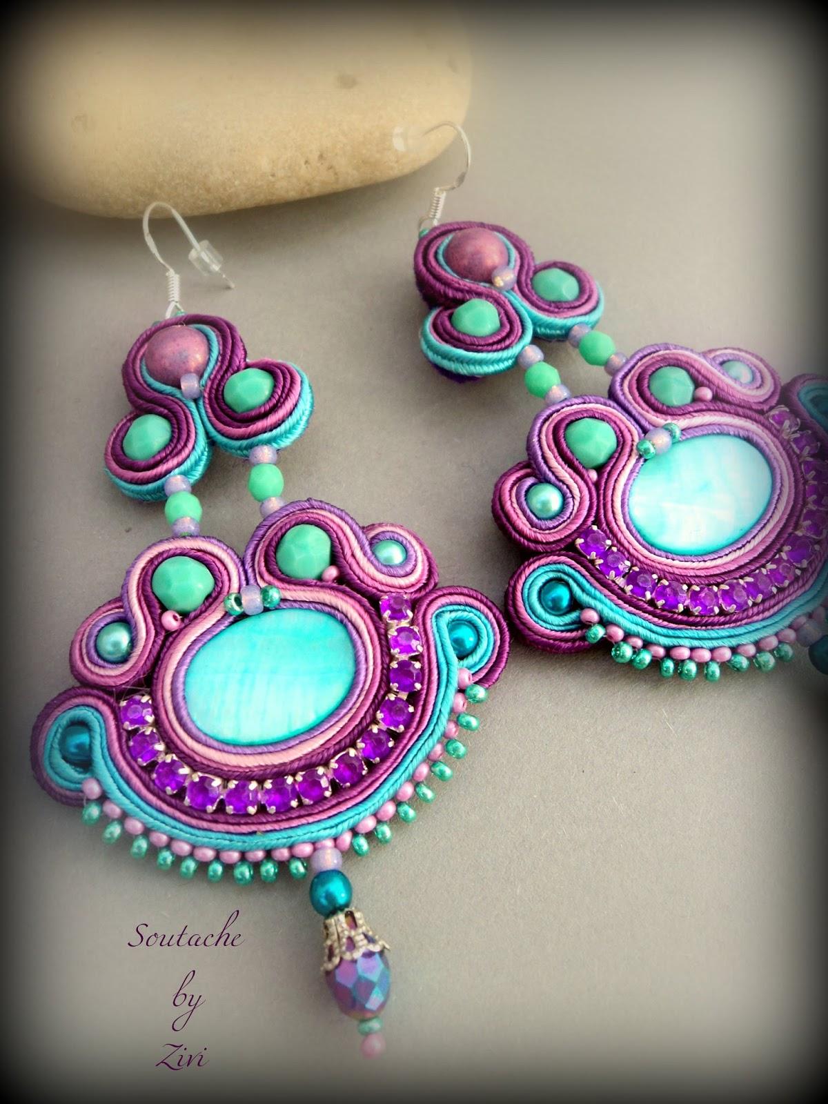 Pendientes flamenca turquesa
