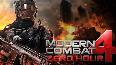 Download Modern Combat 4 Zero Hour V.1.2.0f MOD APK + DATA