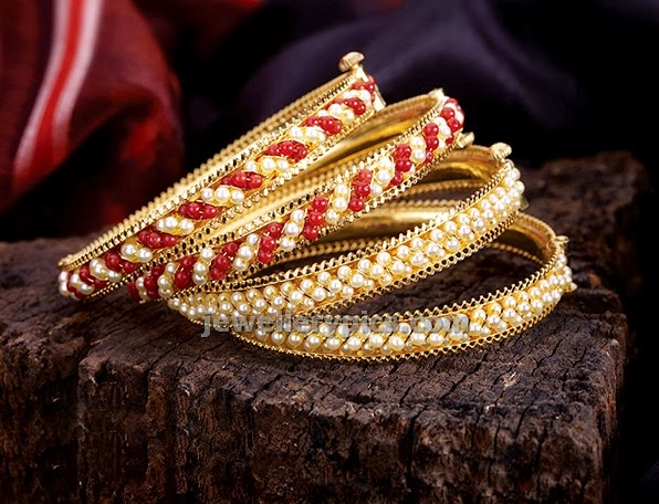 PNG diamonds coral pearl bangles