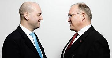 Göran Persson och Fredrik Reinfeldt