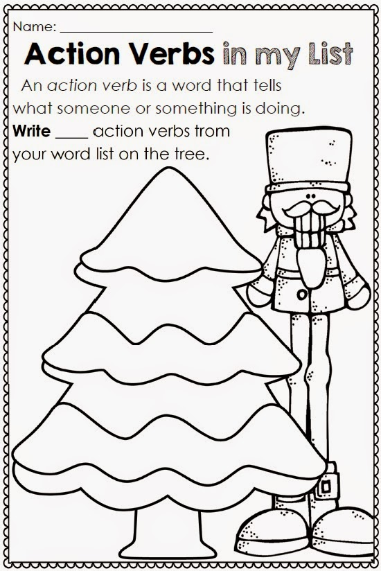 Christmas Printables for any Word List from Clever Classroom