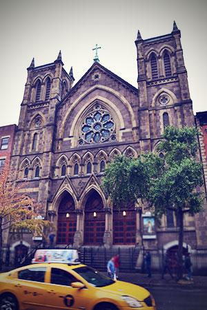 New York Kirche Taxi Oktober 2013
