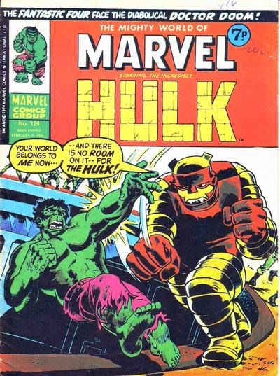 Mighty World of Marvel #124, Hulk vs the Inheritor