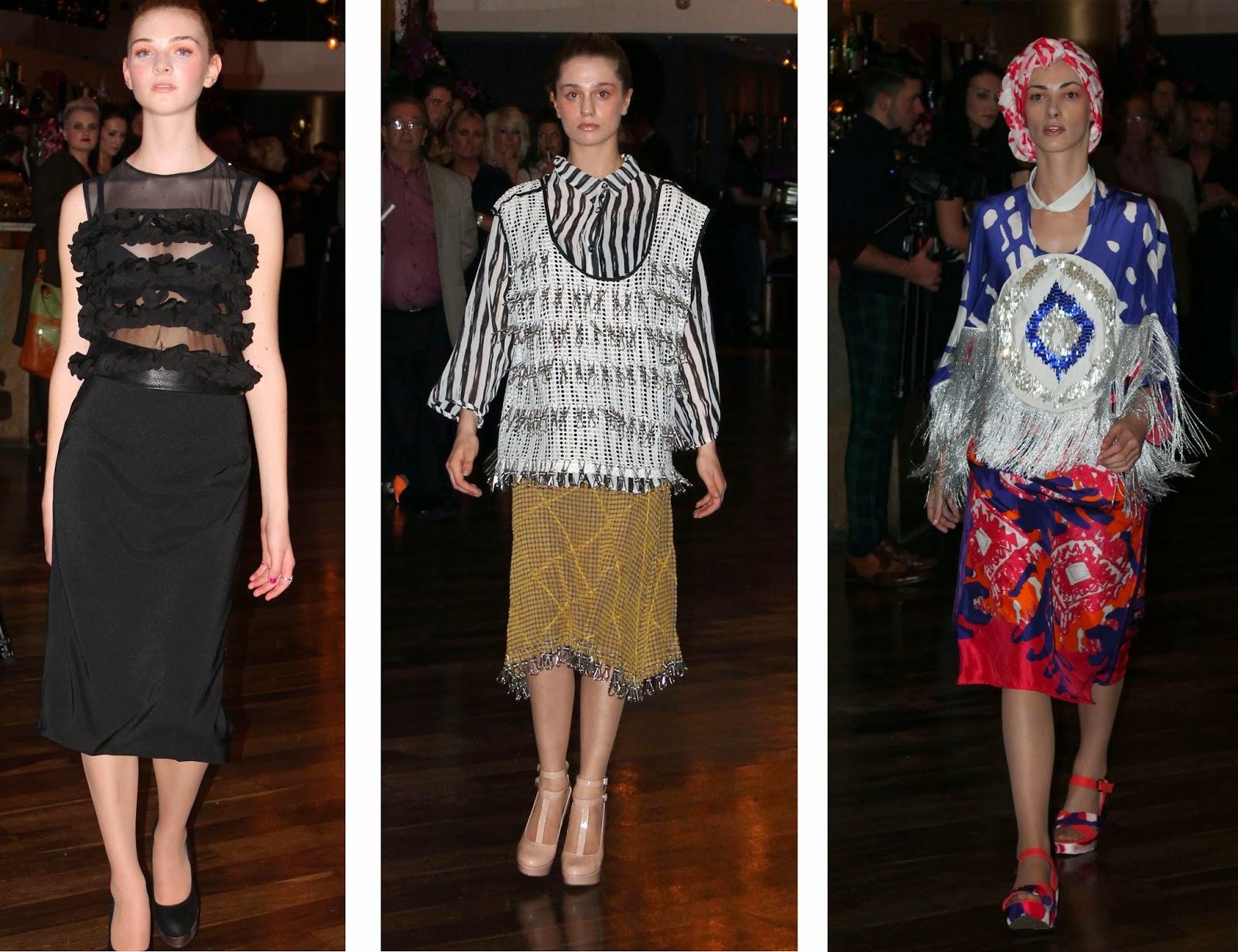 inspo launch fashion show MMU graduates sve fashion, victoria hordern and mahwish aurangzeb