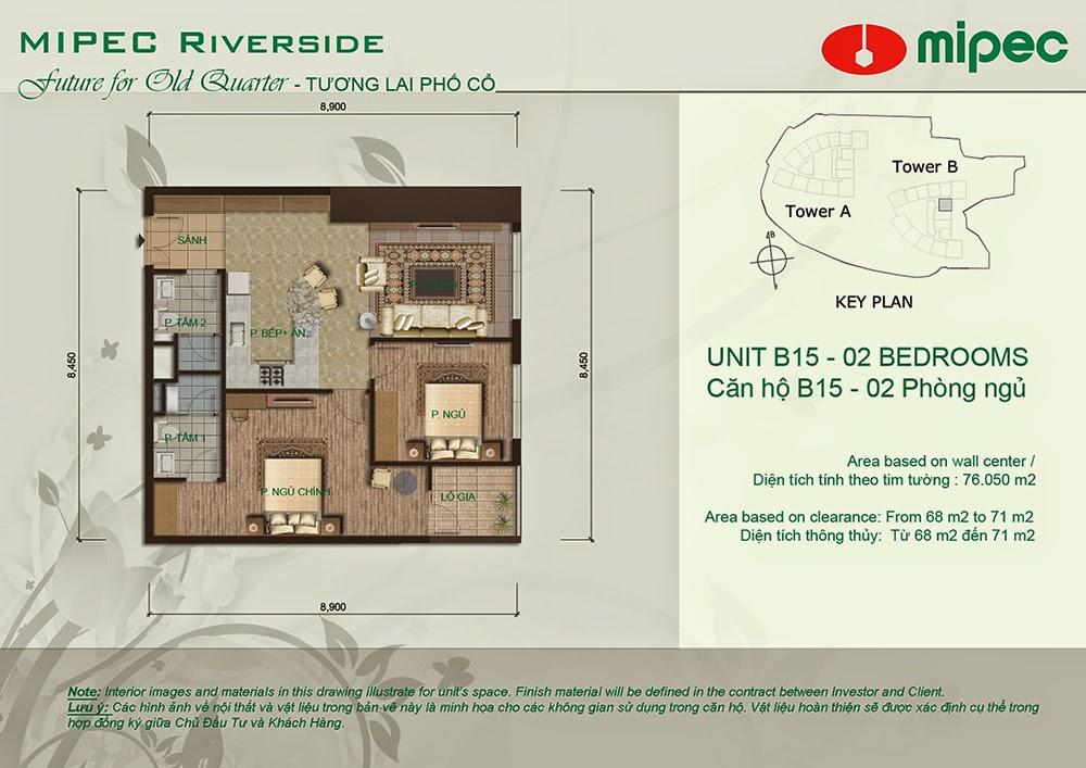 Căn B15 cư xá Mipec Riverside